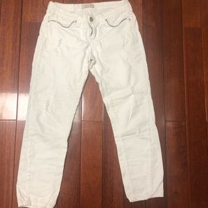7 for All Mankind White Ripped jeans
